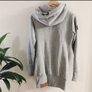 Naketano hoodie sweater dress NWOT